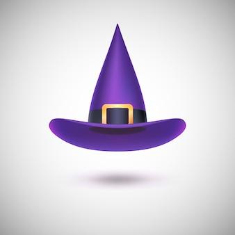 Chapeau de sorcière violet pour halloween.