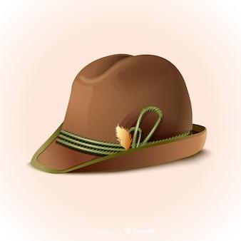 Chapeau traditionnel oktoberfest réaliste
