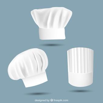 Chapeaux de chef divers en conception réaliste