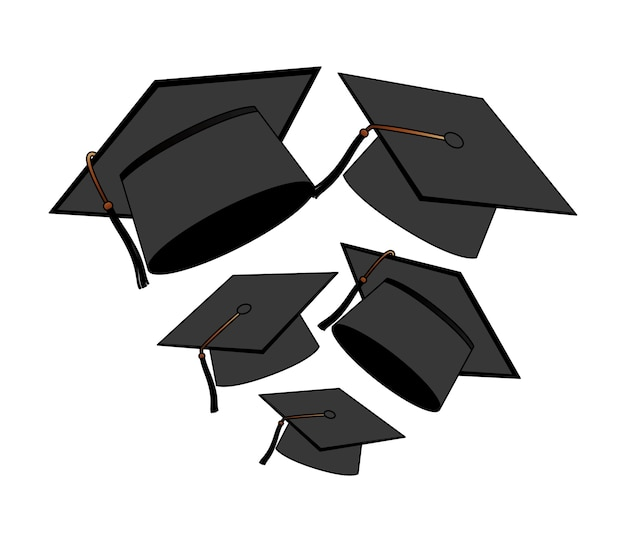 Chapeaux fond de graduation