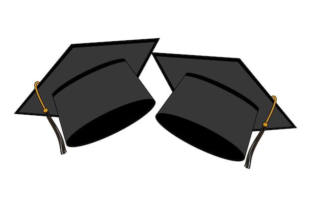 Chapeaux graduation isolé icône vector illustration design