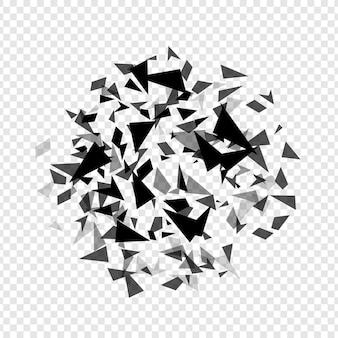 Chapelier abstrait hexagones éclaté modèle de fond de texture géométrique isolé illustration vectorielle