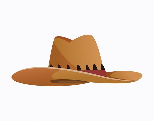 Chapellerie. accessoires de vêtements. couvre-chef de mode dans un style vintage, vieux chapeau de cowboy classique. couvre-chef élégant vintage