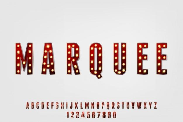 Chapiteau, une police alphabet vintage abstraite avec thème carnaval. conception de typographie classique et festive