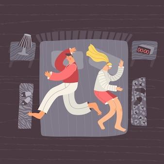 Charakters de position de sommeil