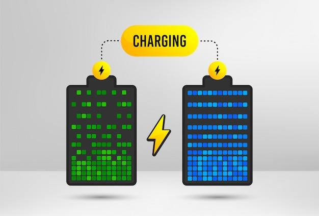 Charge électrique de la batterie