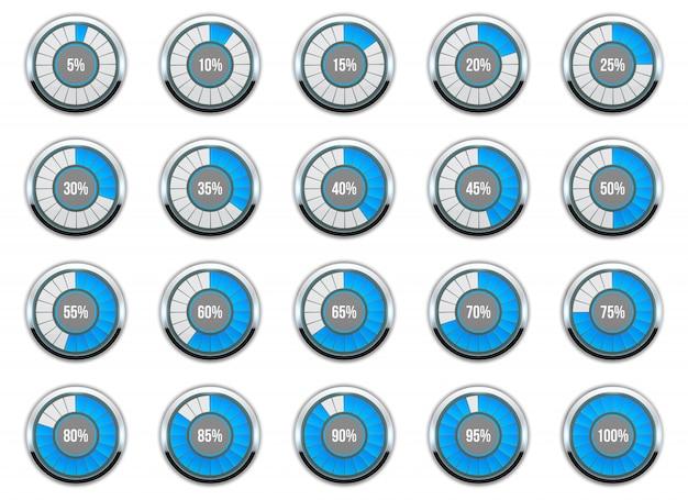 Chargement de la barre de cercle de progression.