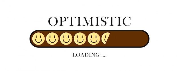 Chargement créatif optimiste avec des sourires.