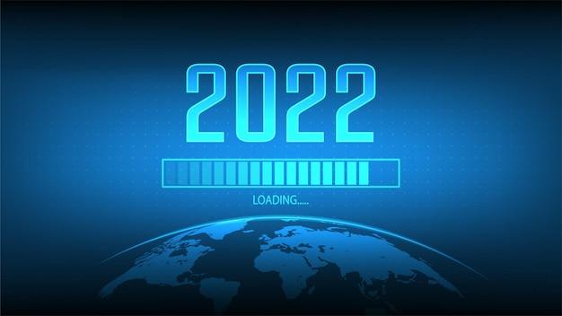 Chargement du nouvel an 2022 résolution du nouvel an et illustration vectorielle happy new year