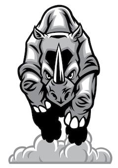 Chargement de rhinocéros