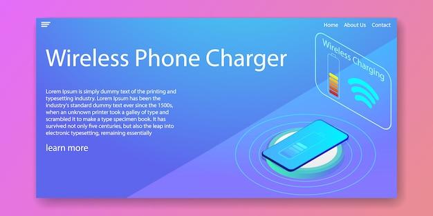 Chargeur de téléphone sans fil isométrique