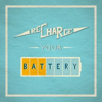 Chargez votre carte de batterie