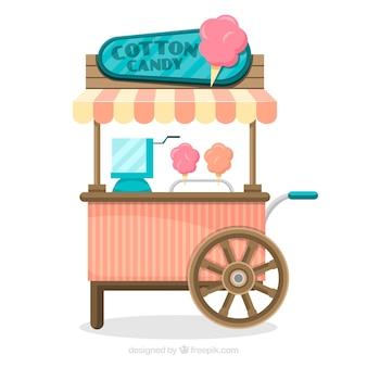 Chariot à confiserie en coton vintage