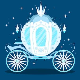 Chariot de conte de fées bleu