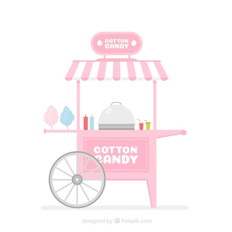 Chariot en coton rose avec design plat