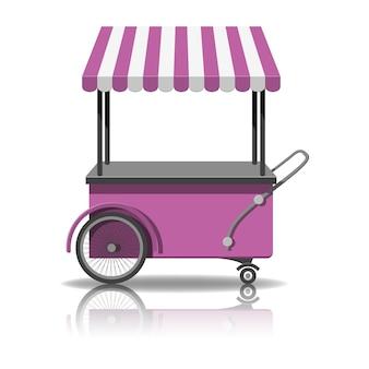 Chariot de crème glacée