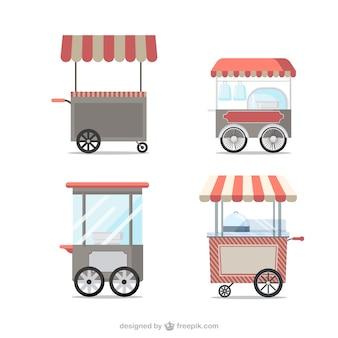 Chariots de nourriture vintage