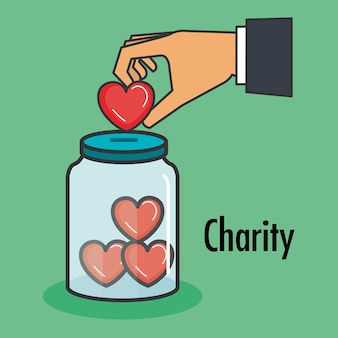 La charité et le don donnent et partagent votre amour