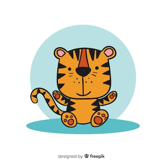 Charmant personnage de tigre