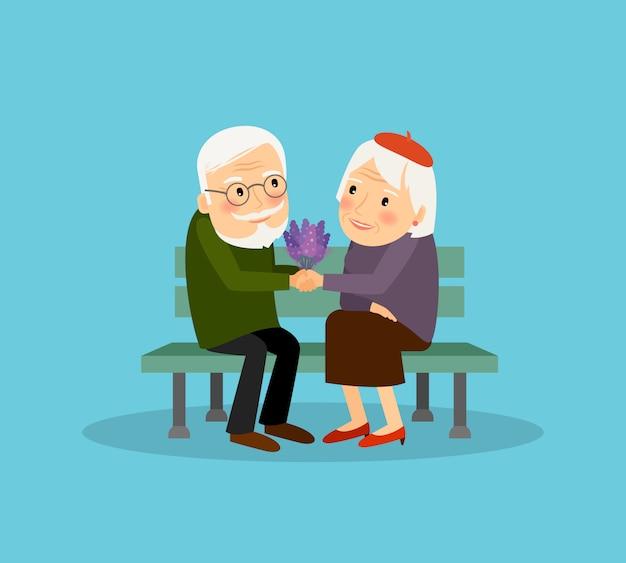 Charmant vieux couple