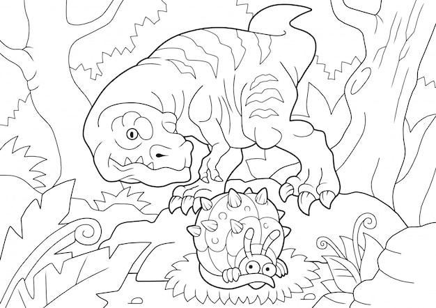 Chasse au tyrannosaure