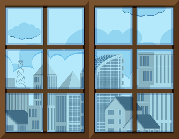 Châssis de fenêtre avec vue extérieure