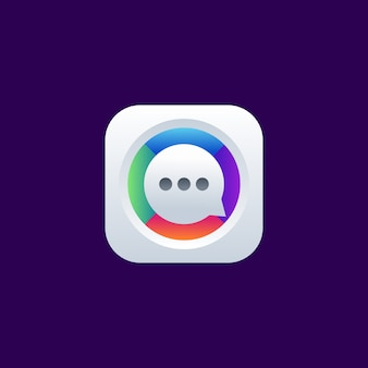 Chat app icon logo