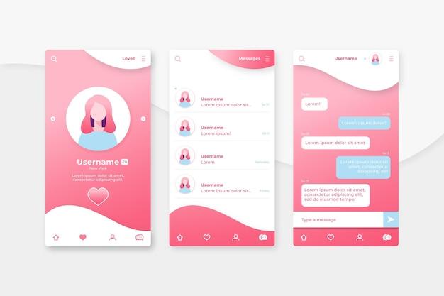 Chat d'application de rencontres entre personnes en ligne