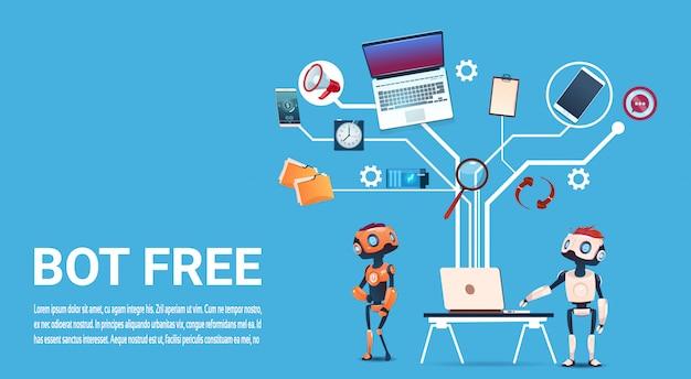 Chat bot free robot assistance virtuelle de site web ou d'applications mobiles, art intelligence artificielle