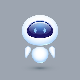 Chat bot. robot avec émotions. concept pour le service client.