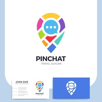 Chat bulle avec le logo de l'icône de la carte