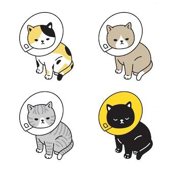 Chat chaton collier dessin animé