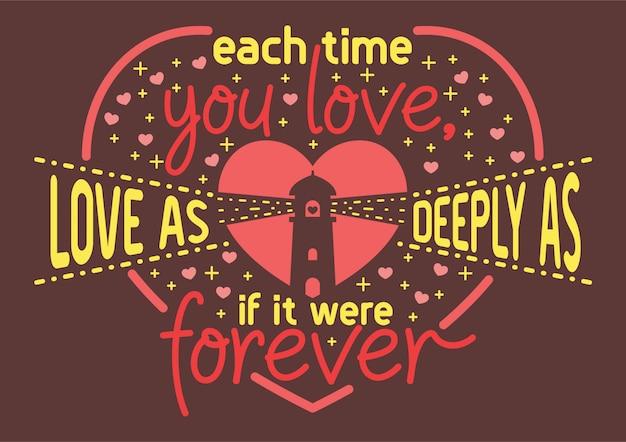 Chat cite chaque fois l'amour profondément comme si c'était pour toujours