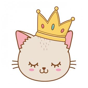 Chat avec couronne