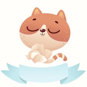 Chat de douche de bébé mignon