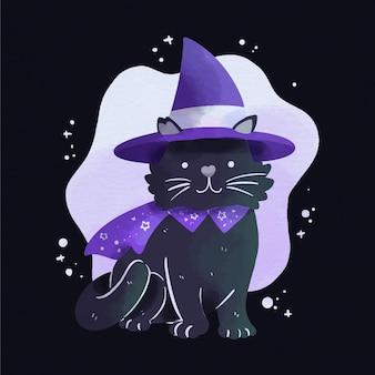 Chat de fête d'halloween