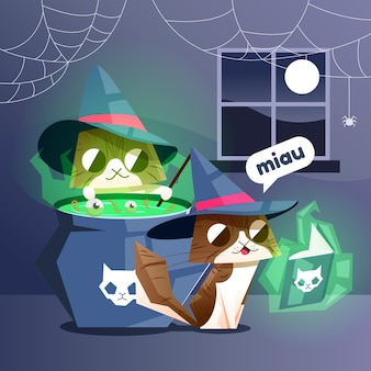 Chat de fête d'halloween