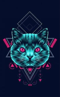 Chat géométrie sacrée