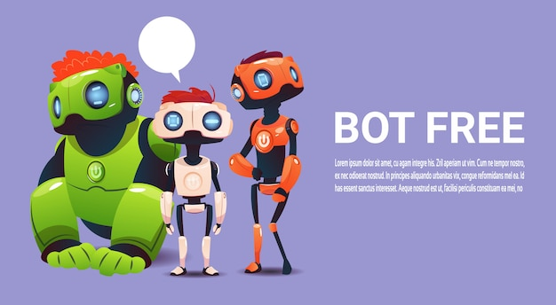 Chat gratuit, élément d'assistance virtuel du robot pour site web ou applications mobiles, intelligence artificielle
