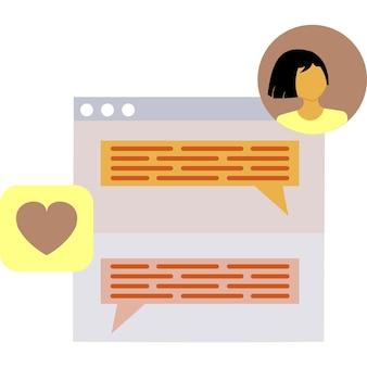 Chat icône vecteur forum symbole web design