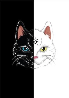 Chat lune noir