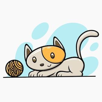 Chat mignon dessiné à la main