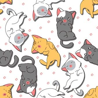 Chat mignon sans couture est le modèle de sommeil.