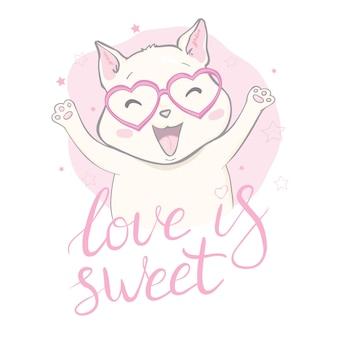 Chat mignon, slogan meow