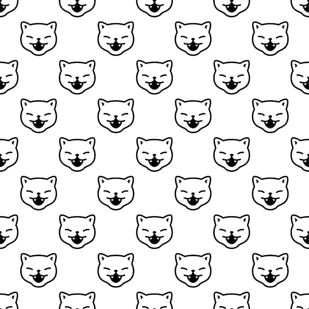 Chat modèle sans couture chaton sourire personnage de dessin animé