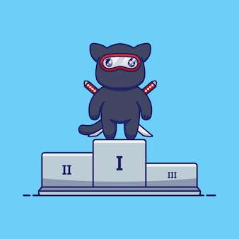 Un chat ninja mignon a remporté la première place