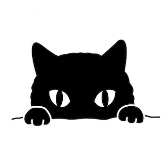 Chat personnage dessin animé icône chaton