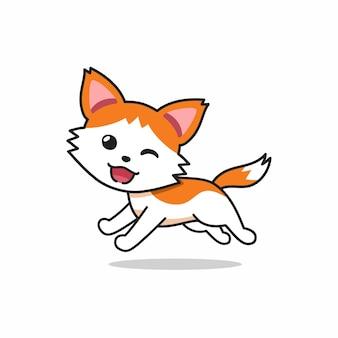 Chat de personnage de dessin animé de vecteur en cours d'exécution pour la conception.