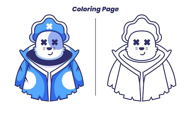 Chat pirate avec des pages à colorier