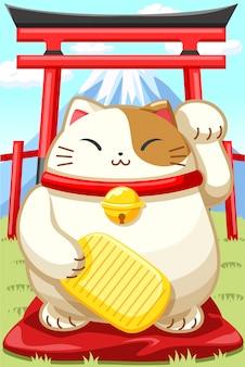 Chat porte-bonheur japonais
